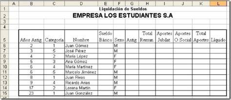 calculo de sueldo quincenal word excel access clases tutoriales y ejercicios