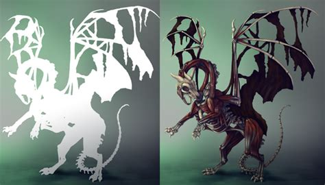 zombie dragon tutorial create zombie dragon concept art painting in adobe photoshop