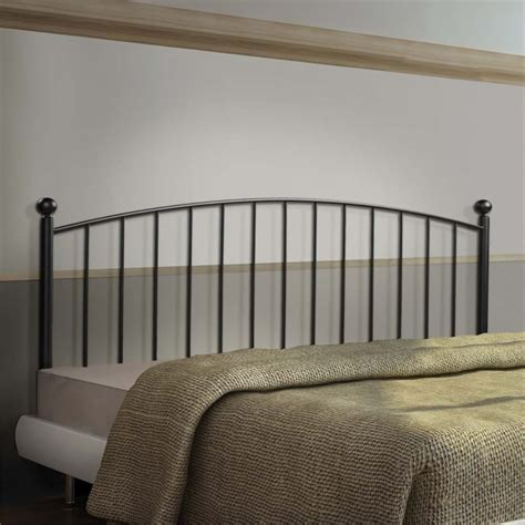 queen iron headboard only full queen metal slat headboard in coffee i 2619q