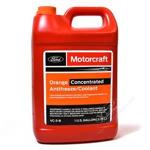 Ford Coolant Motorcraft Vc 3 B Orange Concentrated Antifreeze Coolant