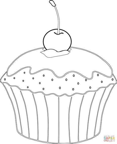 Muffin Coloring Pages Coloring Home Muffin Coloring Page