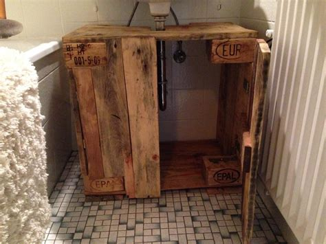 bathroom cabinet cupboard  sink  pallet timber