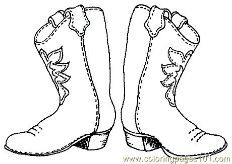 cartoon boat cut out free cowboy boot outline coloring pages cowboy coloring