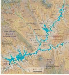 lake powell arizona map lake powell map page az