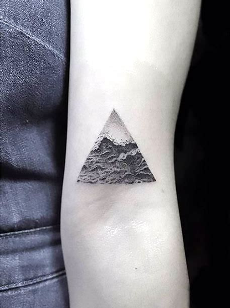 triangle tattoo on arm meaning small arm triangle tattoo idea