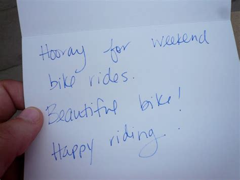 Letter From Secret Admirer This S Bike Secret Admirer
