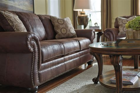 benchcraft leather sofa faux leather queen sofa sleeper with rolled arms and