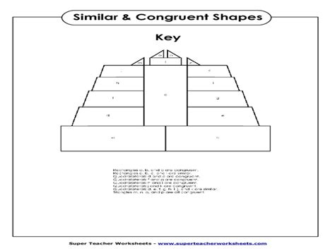 Congruence Worksheets by Math Worksheets Symmetry And Congruence Congruent