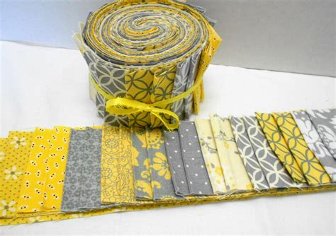 Jelly Roll Quilt Fabric by Yellow And Gray Quilt Fabric Jelly Roll Strips Sew