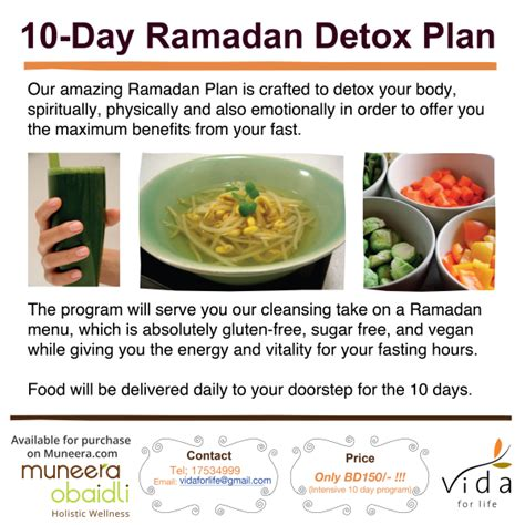 Foods To Eat During Detox by 10 Day Ramadan Detox Menu Muneera Obaidli
