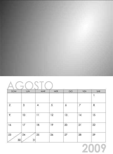Calendario 2009 Agosto Calendario 2009 Creare Il Calendario Con Le Tue Foto