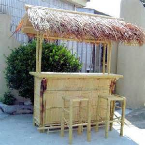 Bamboo Tiki Bar With Roof Bamboo Tiki Bar With Thatch Roof