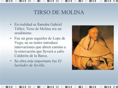 tirso de molina the 0856683019 el teatro del barroco