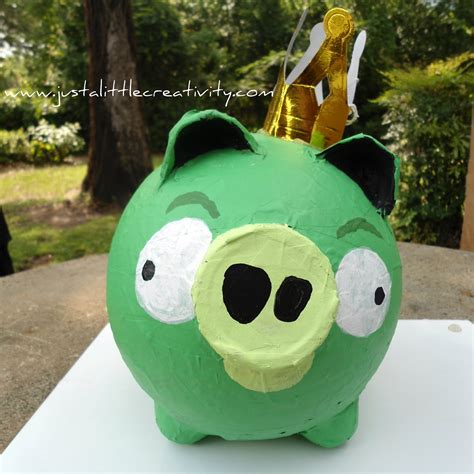 How To Make A Paper Mache Pig - paper mache angry birds pig tutorial just a