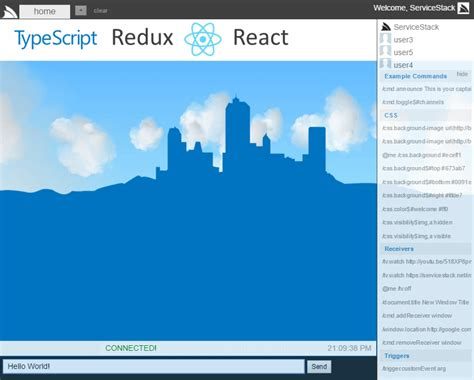 Livedemos Readme Md At Master 183 Servicestackapps Livedemos 183 Github React Chat Template