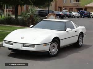 1984 chevrolet corvette coupe white with black interior 84