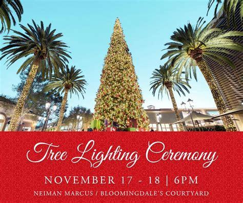 fashion island tree lighting tree lighting ceremony at fashion island orange county zest
