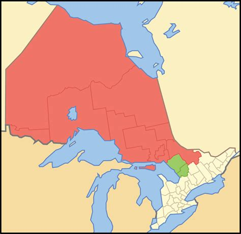 map northern ontario canada file map of ontario northern svg