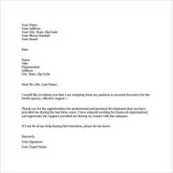 Resignation Letter In Word Format by Sle Professional Letter 14 Free Documents In Pdf Word