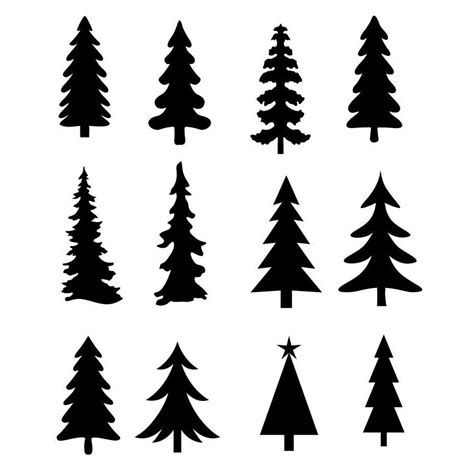 christmas tree evergreen clipart silhouettes eps dxf pdf