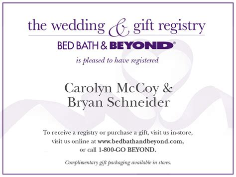 bed bath and beyond registry card template bed bath beyond