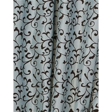 blue and brown curtains and drapes exclusive angelina scroll blue brown curtains panels