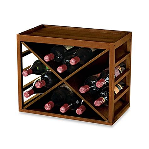wine rack bed bath and beyond 12 bottle x cube wood wine rack bed bath beyond
