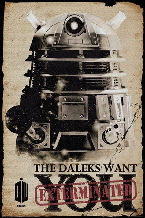 Plakat I Want You by Doctor Who Daleks Want You Plak 225 T Obraz Na Zeď