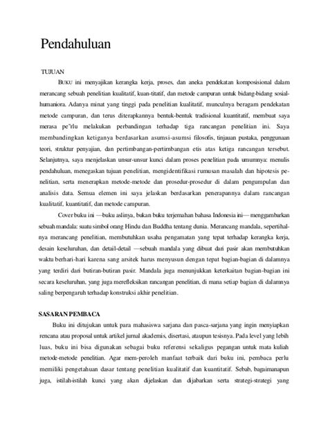 Research Design Edisi 3 Pendekatan Kualitatif Kuantitatif Dan Mixed creswell w translate design research kuantitatif kualitatif da