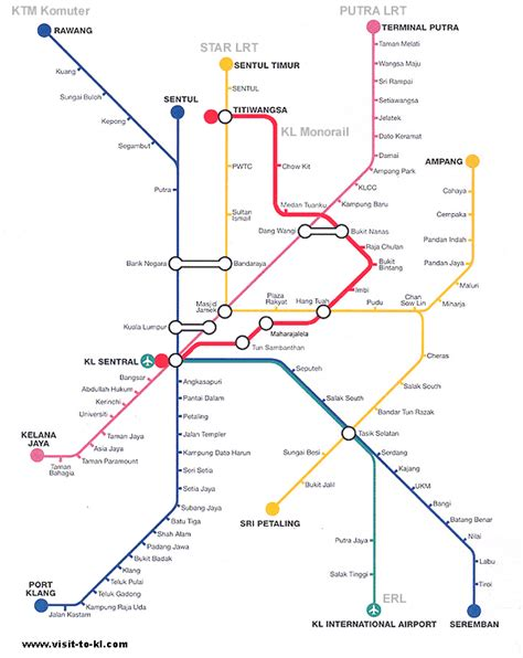 Lrt Monorail Ktm Map Mcginley S Fulbright In Malaysia A Look At Kl From