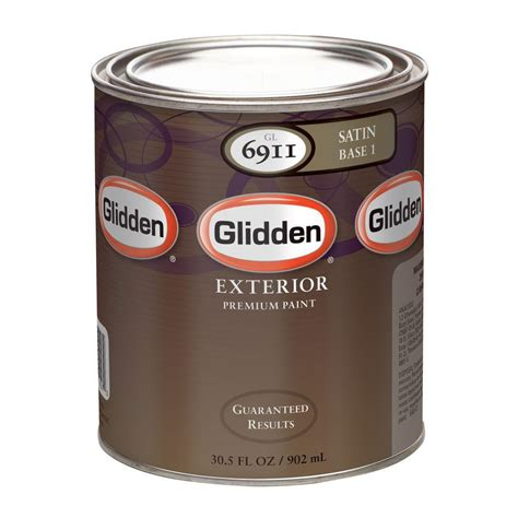glidden premium 32 oz satin colors exterior base paint gl6913 04 on popscreen