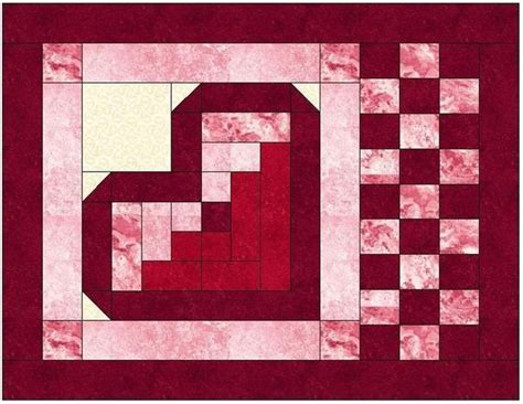 pattern for log cabin heart quilt 1000 images about quilt blocks on pinterest quilt