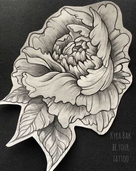 peony tattoo design peony drawing at getdrawings free for