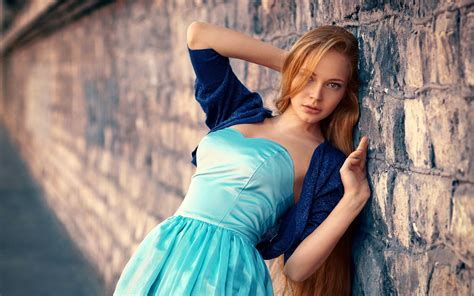 Cute girl blue dress wallpapers pictures photos images