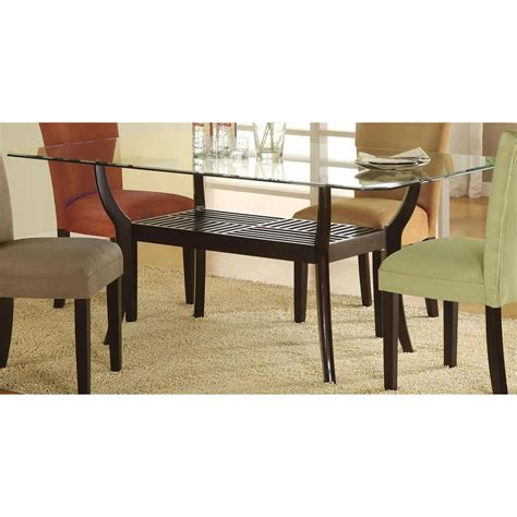 rectangle dining table rectangle glass dining table with shelf