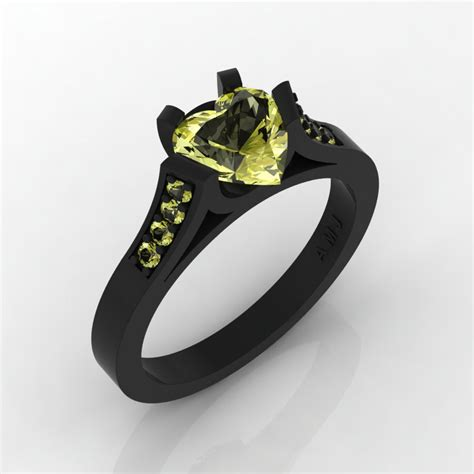 Gorgeous Vintage 5 Engagement Ring In Yellow by Gorgeous 14k Black Gold 1 0 Ct Yellow Topaz Modern