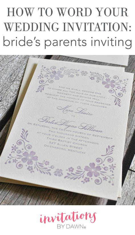 Your Wedding Invitations by How To Word Your Wedding Invitations S Parents