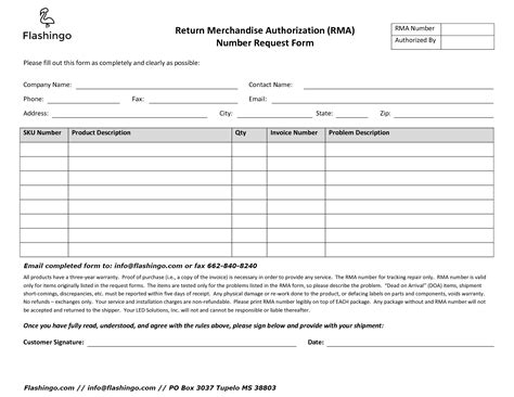 Store Credit Application Form Rma Form Flashingo