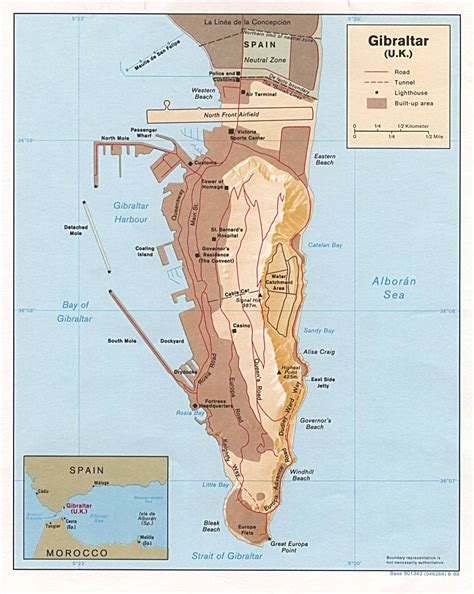 printable road map of gibraltar detailed map of gibraltar gibraltar detailed map