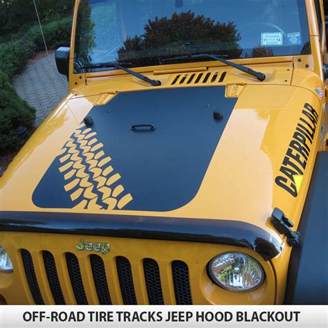 Custom Jeep Emblems Custom Road Tire Tracks Blackout Decal Vinyl