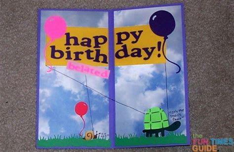 how to make a card with a photo diy birthday card tutorial how to make a simple belated