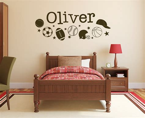 boys room decals wall decal boys sports name decal db241 by designedbeginnings