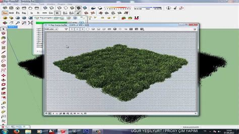 tutorial cesped vray sketchup sketchup v ray make grass with proxy youtube