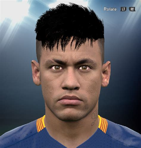 Name Of Neymars Haircut | pes 2016 neymar s new hairstyle by ammarexx7 pes patch