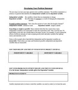 Sample Problem Statement Template   8  Documents in PDF