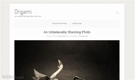 wordpress theme origami free 20 free wordpress photoblog themes