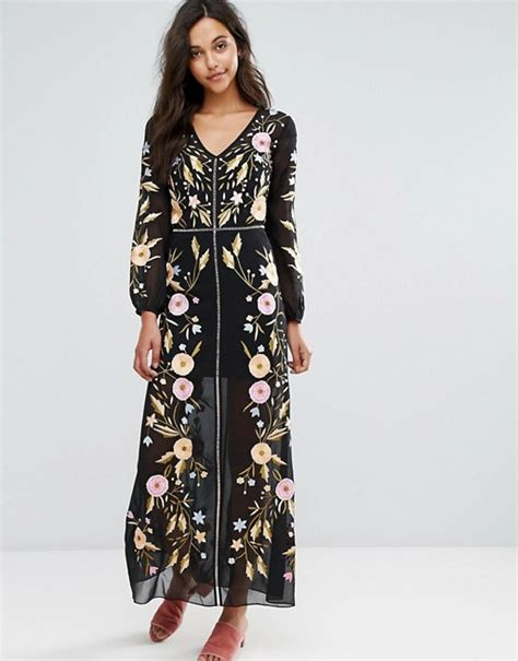 Festival Maxi Dress From Miss Selfridge by Miss Selfridge Miss Selfrdige Embroidered Maxi Dress