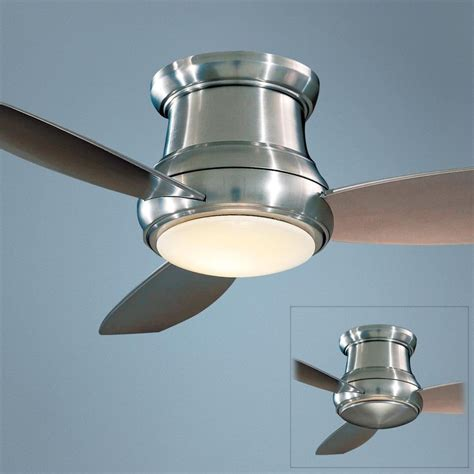 minka concept ii hugger ceiling fan 44 quot minka concept ii brushed nickel hugger ceiling fan