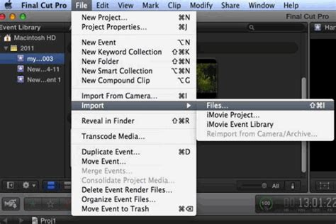 final cut pro not importing fcp x media importing how to import video files and