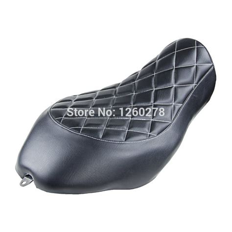 sportster bench seat motorcycle black diamond stitch black solo seat saddle for